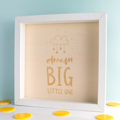 Dream Big Little One Wood Print Box Frame