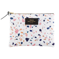 Woouf Pouch Large - White Terrazzo