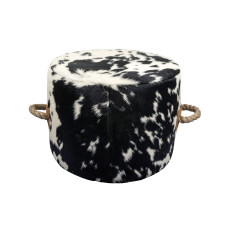 Escaño Ottoman in Cascara Etch Black