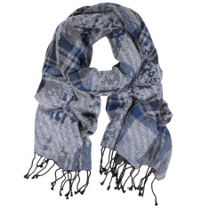 Victoria Jacquard Wool Cotton Silk scarf (various colours)
