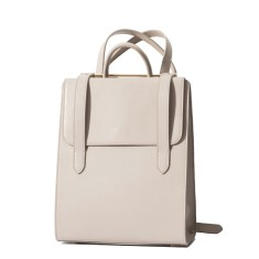 Urban leather backpack travel bag in grey