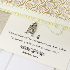 Jane eyre birdcage necklace