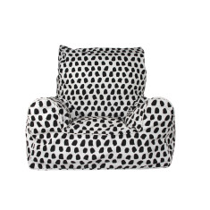 Paint Splotches - Black & White Bean Chair Cover