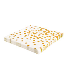 Gold confetti napkins (2 packs x 20)
