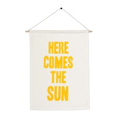 Here comes the sun handmade wall banner