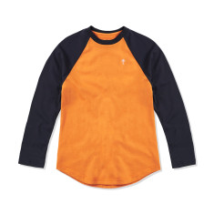 Boys Baseball Tee in Orange & Navy