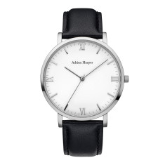 Men's Silver Black Watch
