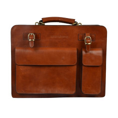 Munich Tan briefcase