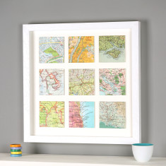 Personalised Nine Map Print