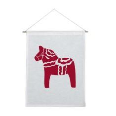 Dala horse handmade wall banner