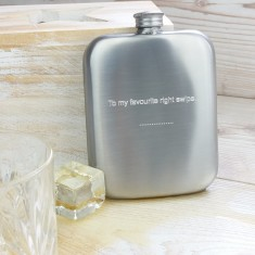 Distressed Cushion Hip Flask