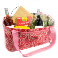Insulated family cooler bag in Isabella print