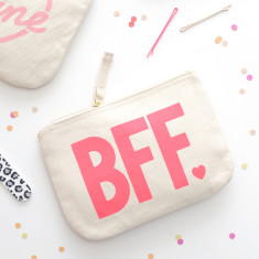 BFF Little Canvas Pouch