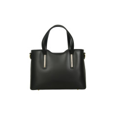 Victoria leather tote bag in black