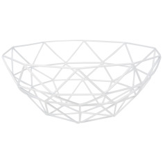 Gem Basket In White