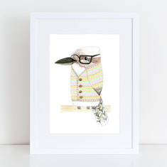 Cardigan Kev the Kookaburra - Limited Edition Fine Art Print