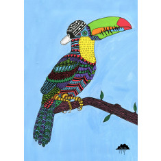 Timothy the toucan art print