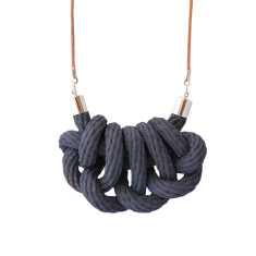 Beachcomber knot necklace in storm