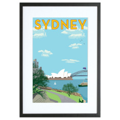 Vintage Sydney harbour print