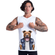 Staffy men's muscle tank