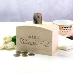 Personalised Retirement Fund Money Box