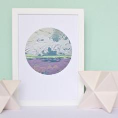 Spring - Circular Abstract Print