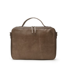 Unisex Leather Well Organized Laptop Bag