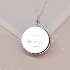 Personalised Cat Mum Disc Necklace