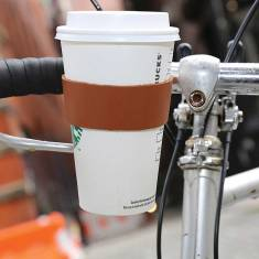 Leather Bicycle Cup Holder