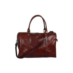 Horizon brown leather overnighter bag