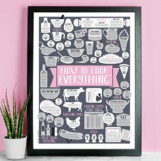 How To Cook Everything Kitchen Print A3 size