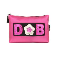 Personalised pink beauty bag
