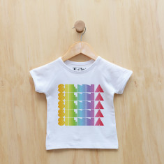 Personalised rainbow gradient girl t-shirt
