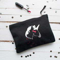 Dead Unicorn Halloween Make Up Pouch