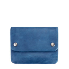 Norma leather wallet in blue