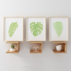 Botanical Watercolour Illustrations Nursery Art Prints (Set of 3)
