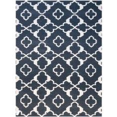 Charcoal handmade flat weave rug