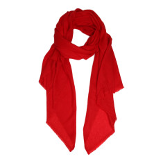 Moye cashmere stole in red