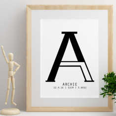 Personalised Letter print