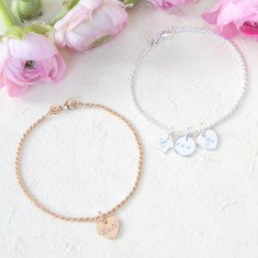 Personalised Initial Chain Bracelet
