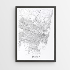 Sydney minimalist map print