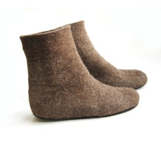 Women's boot in eco-friendly wool (various sole colours)