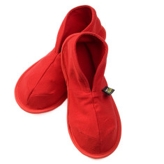 Red unisex cotton slippers