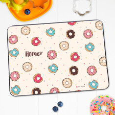 Doughnuts personalised placemat