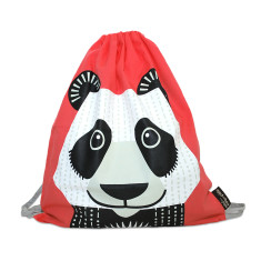 Pink kids bag in panda