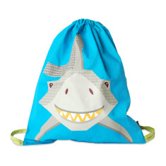 Blue kids bag in shark