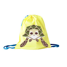Green kids bag in turtle