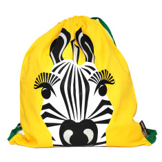 Yellow kids bag in zebra by Coq en Pate