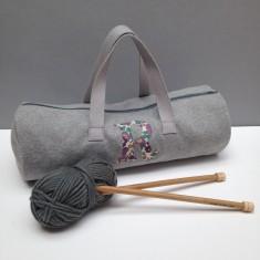 Liberty Print Applique Knitting Bag