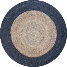 Jute braided rug natural/charcoal